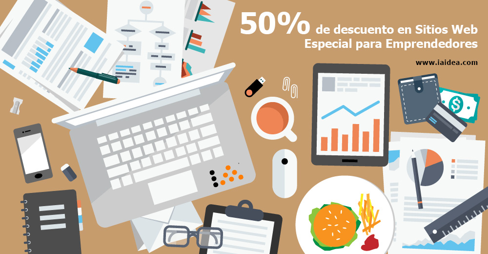 50% de descuento en sitios Web para Emprendedores